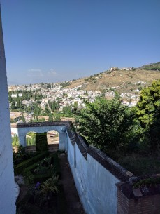 The view from the Alhambra into Granada.