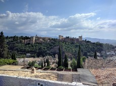 The view of the Alhambra from the Albaicin.
