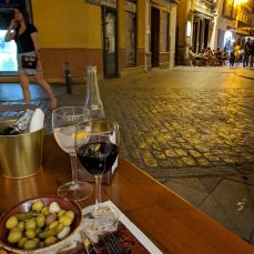 Typical tapas view.