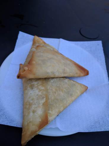 They also have savory pastries. These were our favorite -- filled with chicken curry. SO YUM.