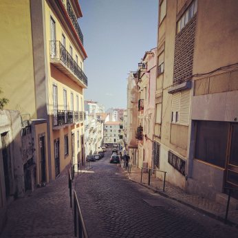 Lisbon as viewed from our AirBNB. The streets to up and down.